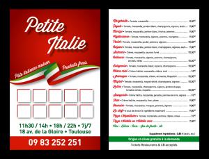 Carte de fidelité La Petite Italie - atelier disegno