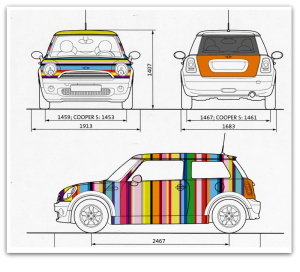 Maquette total covering Mini Cooper - atelier disegno