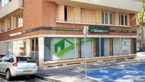 Signalétique pour l'agence immobilière Domicimm