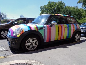 Total covering sur Mini Cooper as Paul Smith