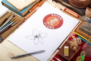 Logotype pour Safari Flore - atelier disegno