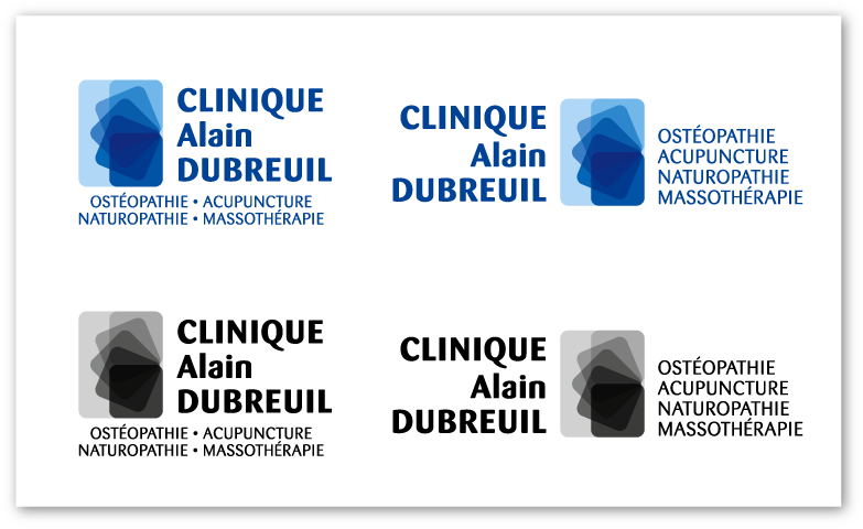 Étude de logo pour la Clinique Aain Dubreuil